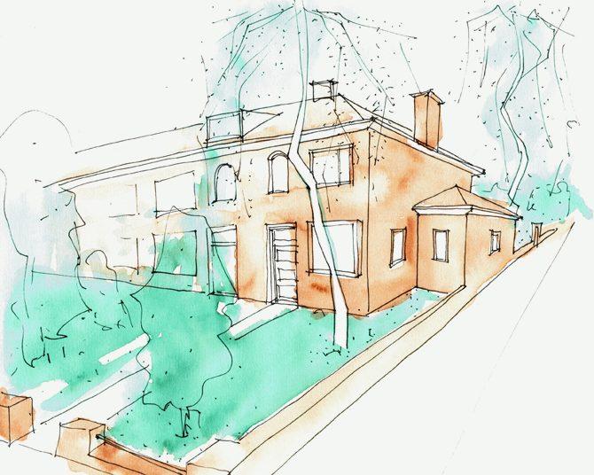 Verbouw van woonhuis